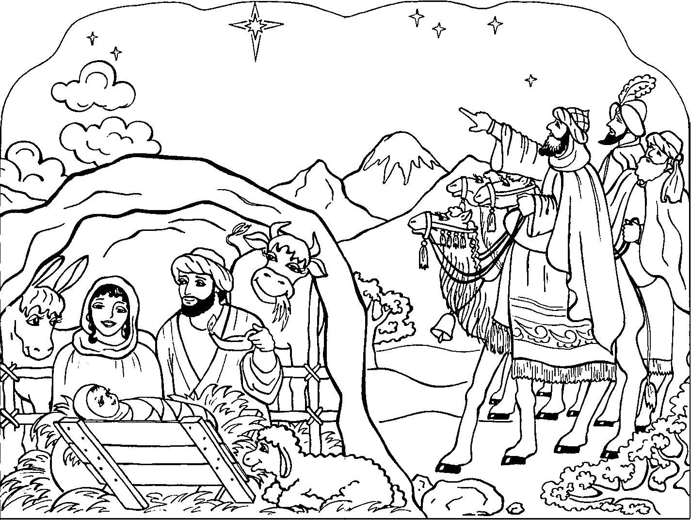 Раскраска . Скачать Рождество.  Распечатать Рождество