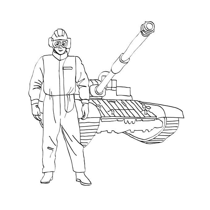 рисунок про танкистов пролетает над водой
