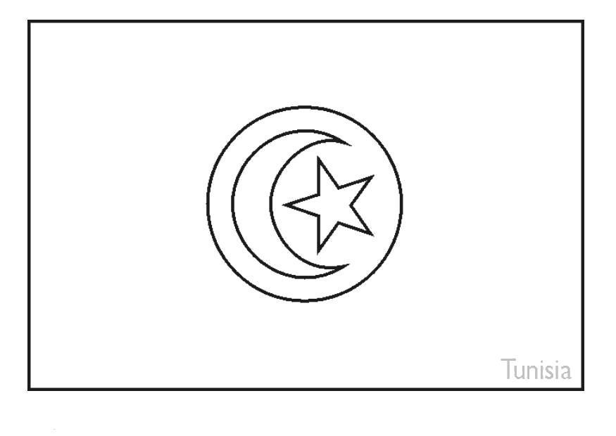 Раскраска Флаг Турции, . Скачать Флаги.  Распечатать Флаги