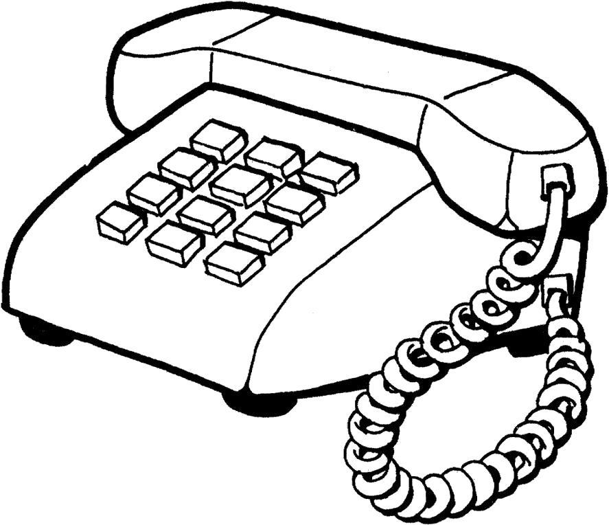 Название: Раскраска домашний телефон. Категория: Телефон. Теги: Телефон.