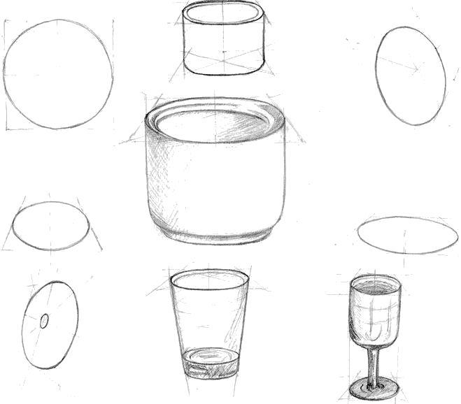 Раскраска Как нарисовать посуду. Скачать Как нарисовать.  Распечатать Как нарисовать