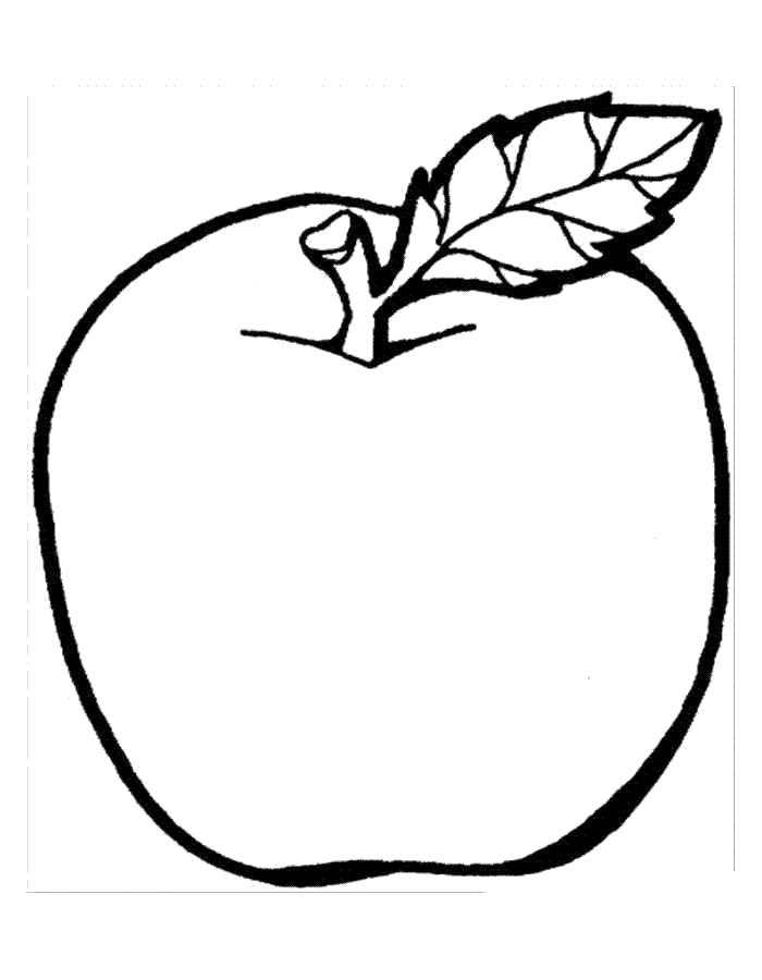 Раскраски яблоко, poisk.