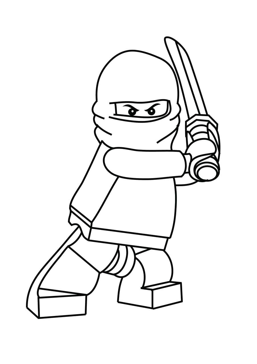 Раскраска Кай из Лего Ниндзяго - раскраска . Лего