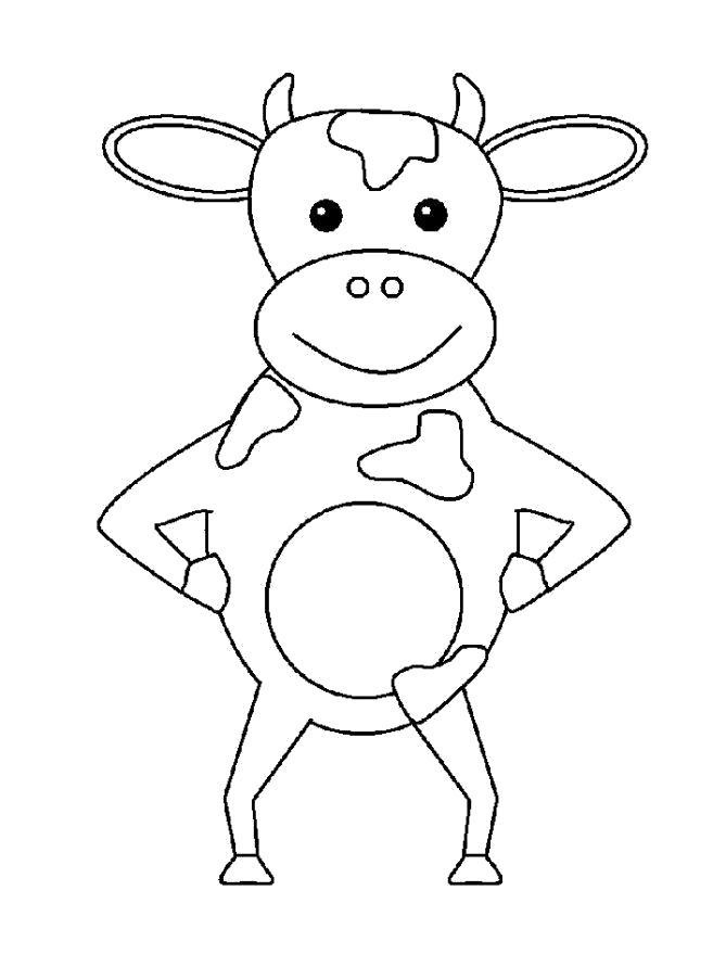 Раскраски корова, Раскраска Корова из Простоквашино ...