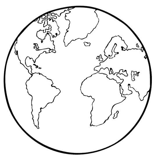 Раскраска  шар,  земной шар,  . Скачать Планета.  Распечатать Планета