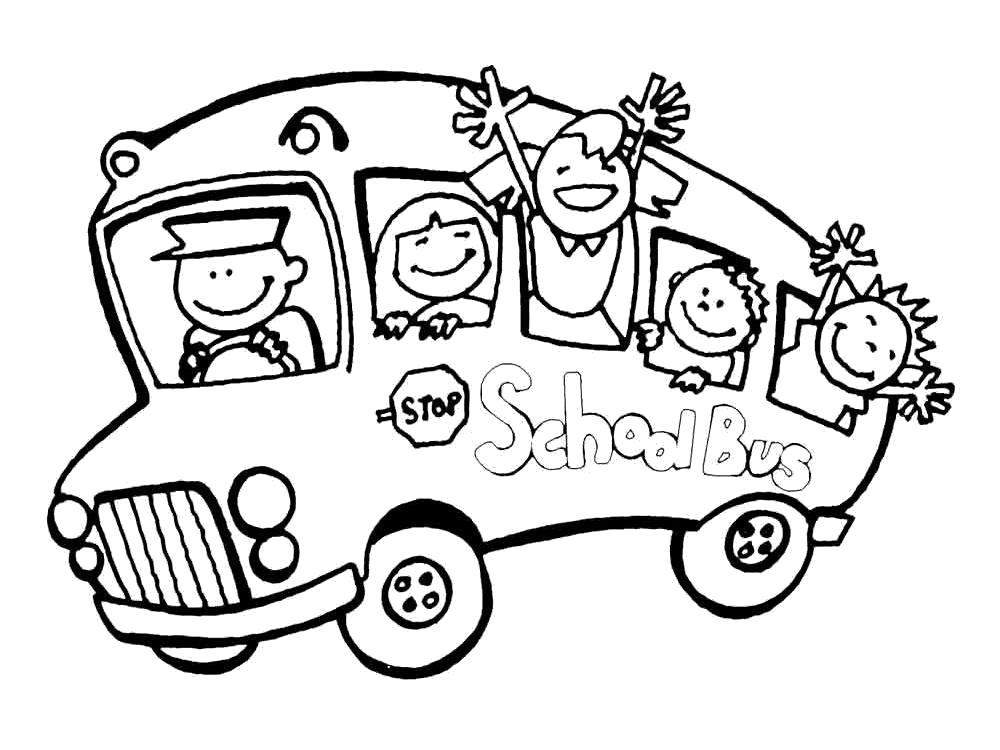 Раскраска Раскраска автобус. Автобус