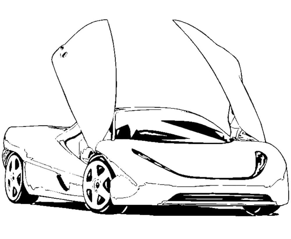 Раскраска  Спортивные Машины , гоночная машина. Скачать машины.  Распечатать машины