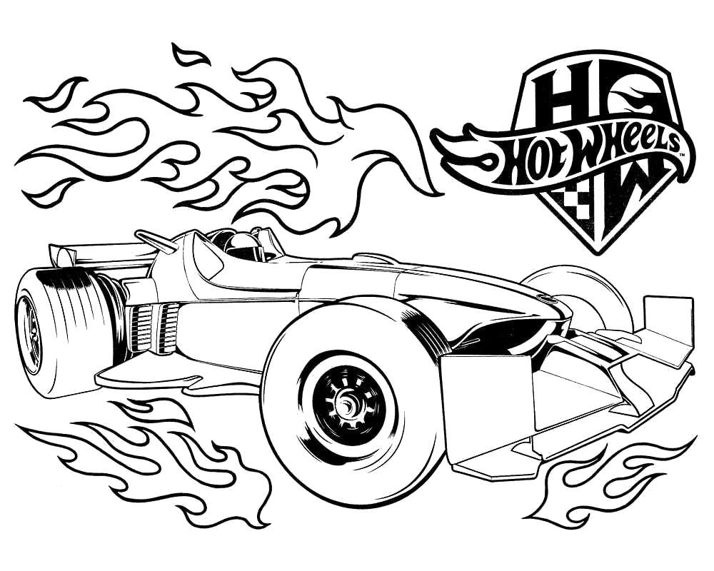 Раскраски ночная, Раскраска гоночная машина для мальчиков.