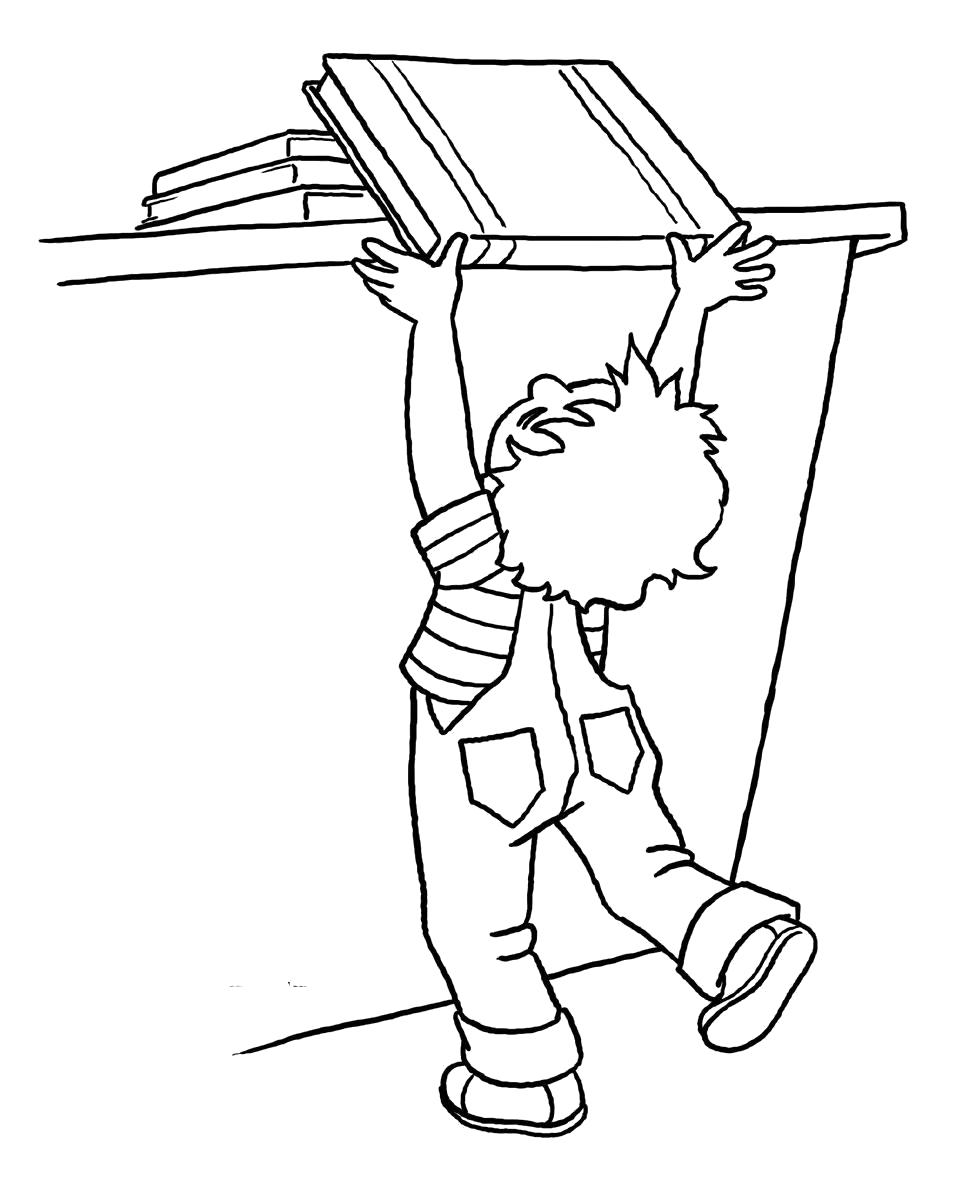 Раскраска Правила поведения в школе . Скачать Школа.  Распечатать Школа