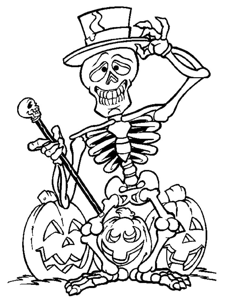 Раскраска Раскраски на Хэллоуин. Хэллоуин
