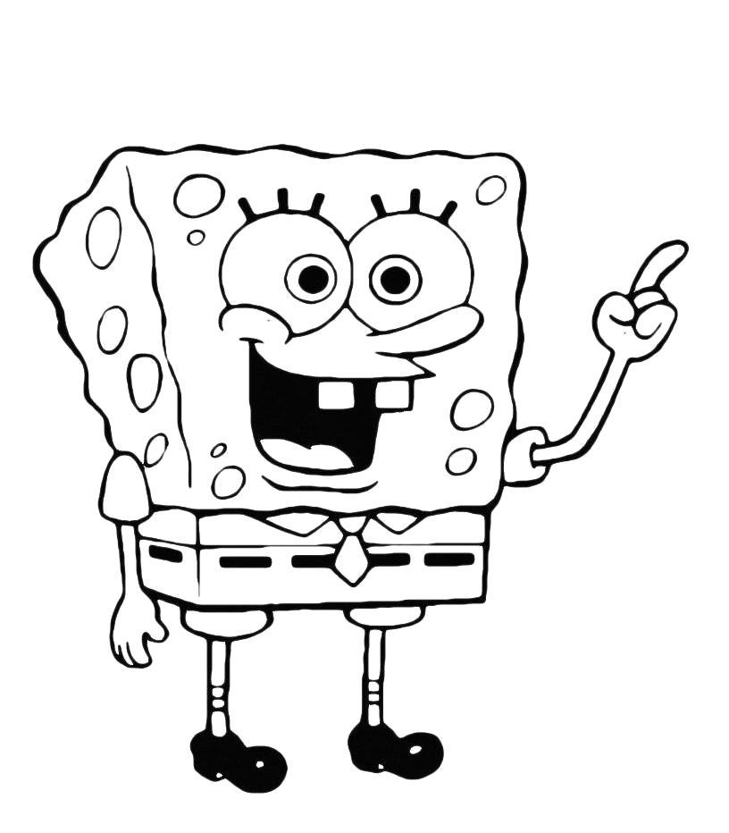 Раскраска губка боб и квадратные штаны, мультсериал, nickelodeon, . Скачать Спанч боб.  Распечатать Спанч боб