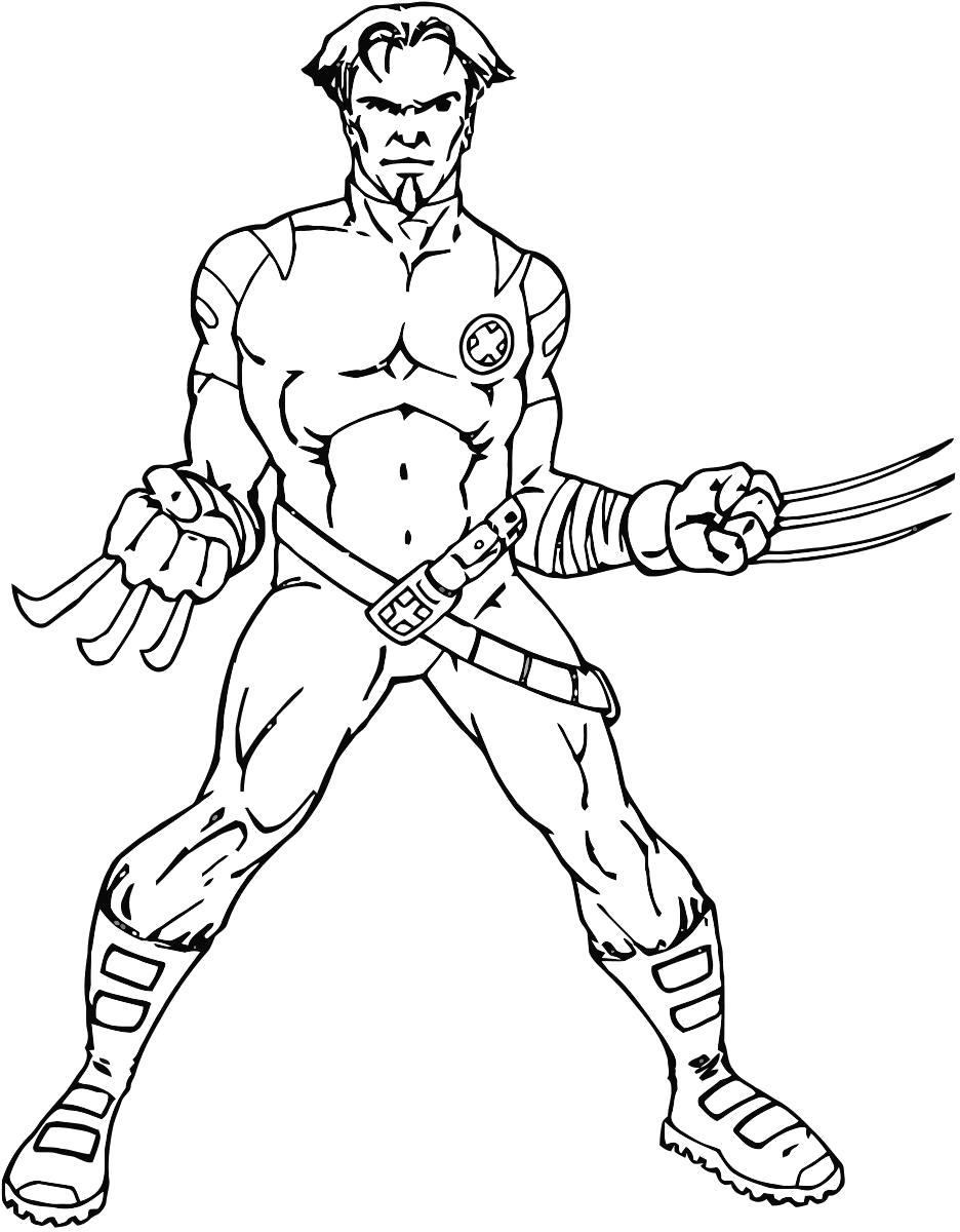 Раскраска Росомаха. Супергерои