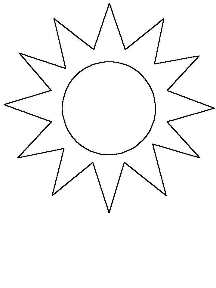 Раскраска  солнце, солнце светит. Скачать Солнце.  Распечатать Солнце