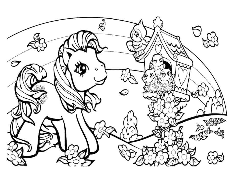Раскраски пони, Страница:2.