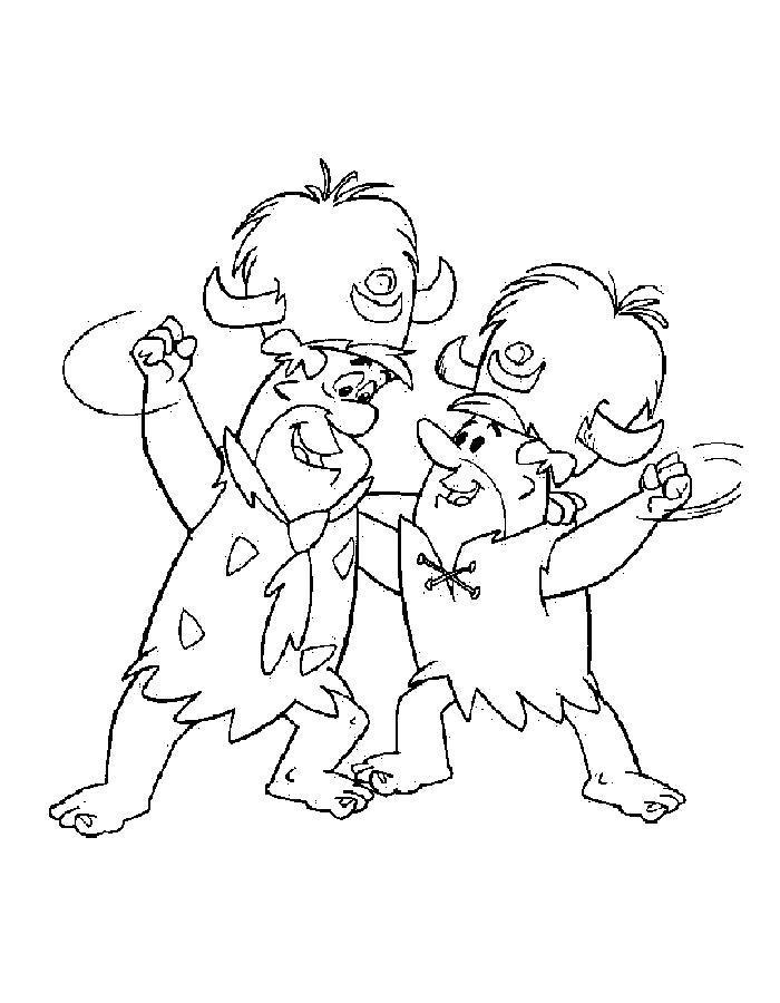 Раскраска Раскраска Флинстоуны, фред и барни. Флинстоуны