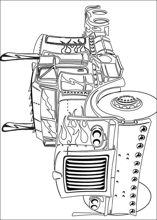 Раскраска  Старая машина. Скачать Трансформеры.  Распечатать Трансформеры