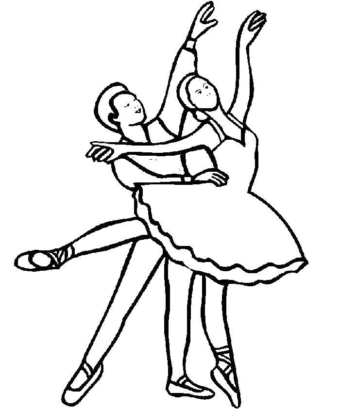 Раскраска Балет. Скачать Балерина.  Распечатать Балерина