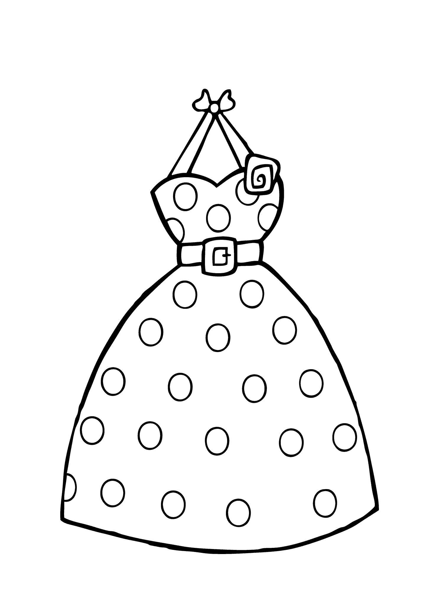 Картинка платье шаблон для