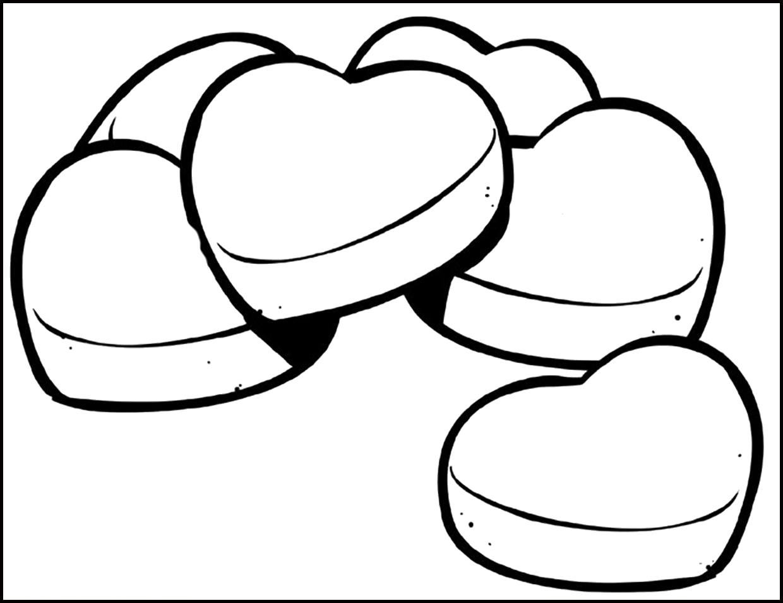 Раскраска Раскраска сердечки. День святого валентина
