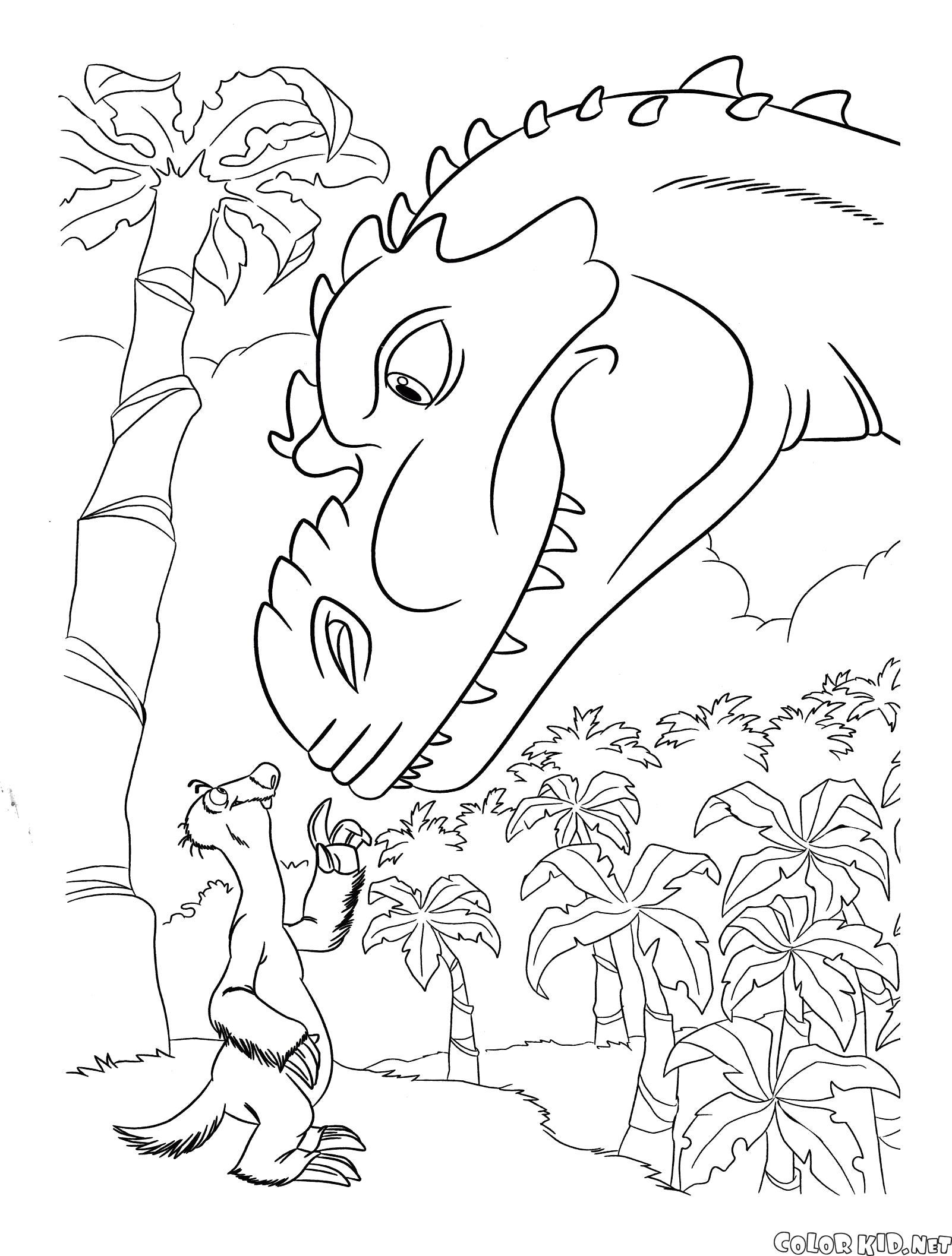 Раскраска Сид и динозавр. динозавр