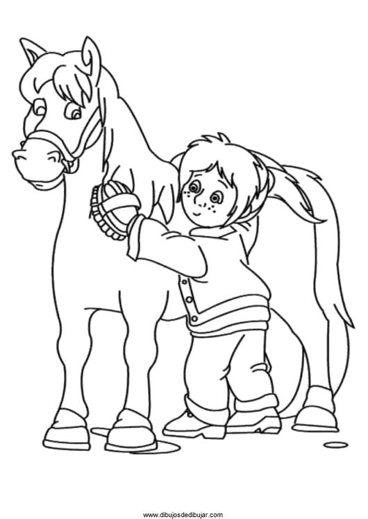 Раскраска Раскраски Лошади раскраски для детей, лошадка, девочка. Лошадка