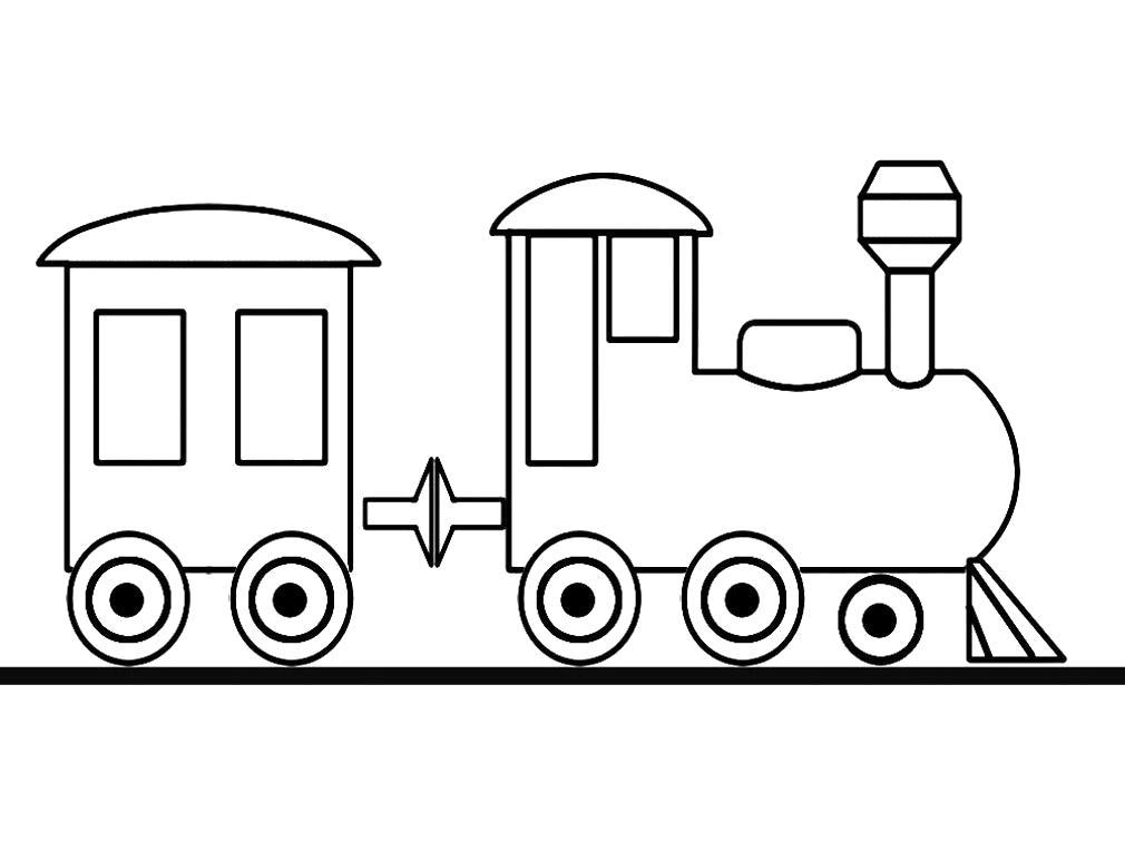 Раскраска Детские раскраски паровозы. Паровоз
