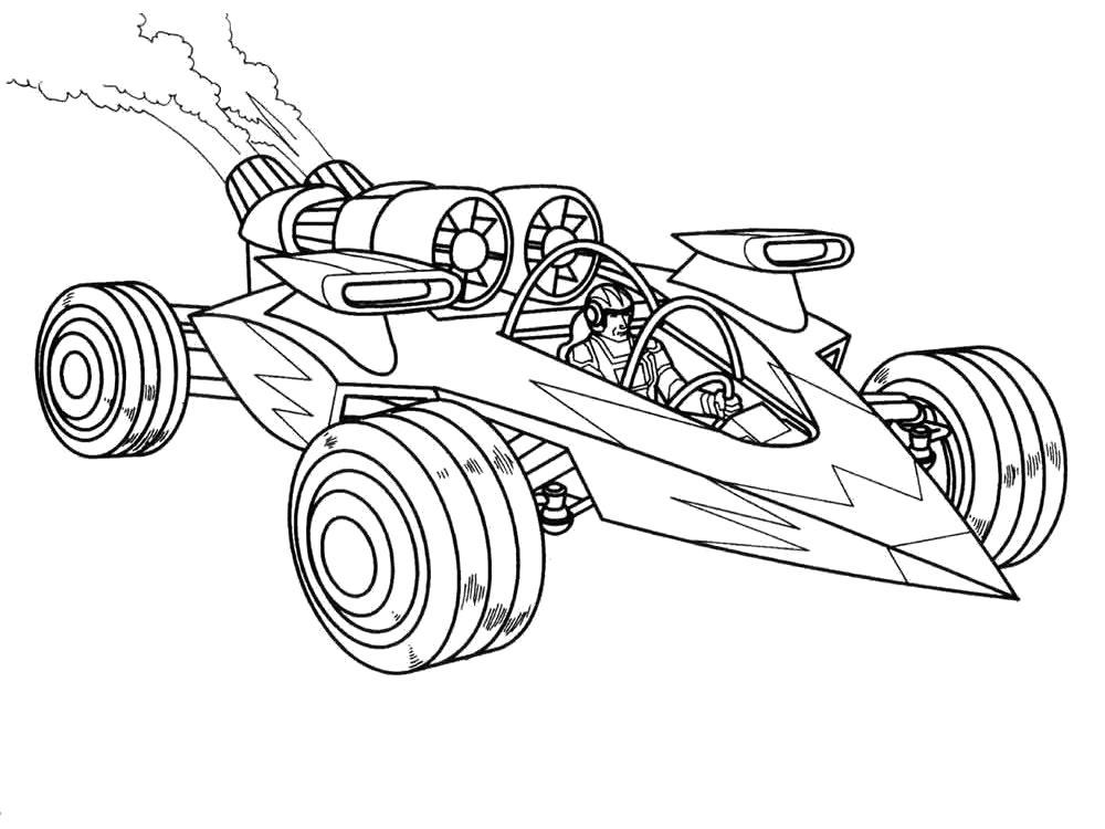 Раскраска Раскраски гоночные машины. для мальчиков