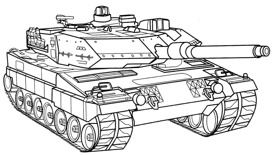 Раскраска Американский танк. Скачать танки.  Распечатать для мальчиков