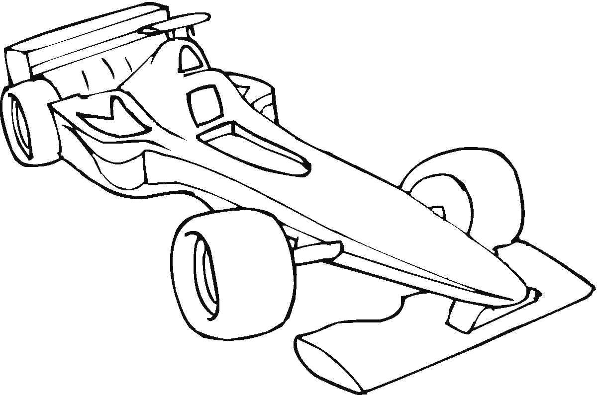 Раскраска болид, формула 1. машины