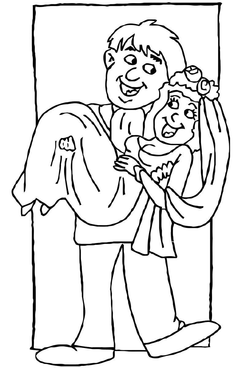 Раскраска Свадьба.