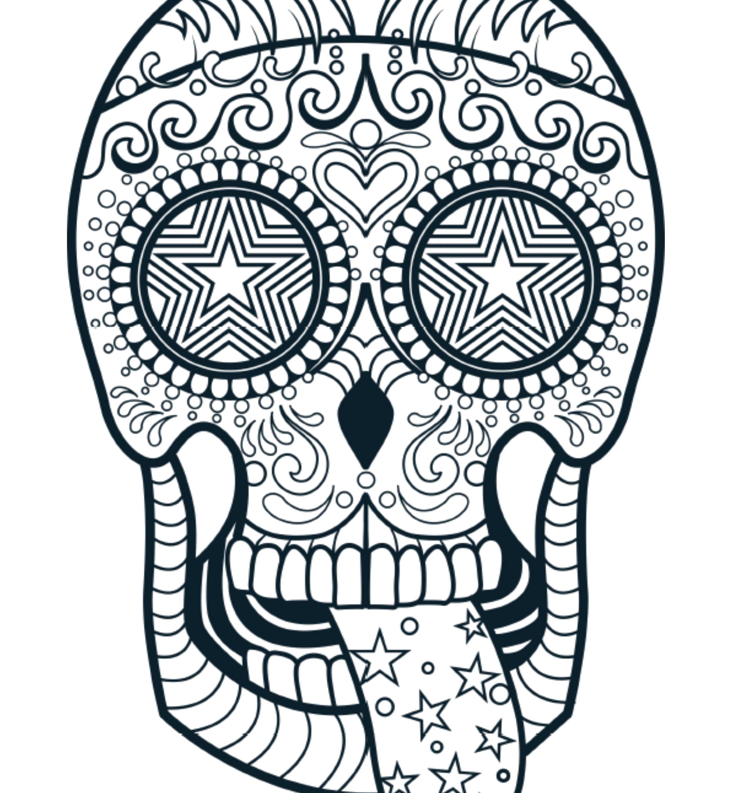 Раскраски череп, Раскраска антистресс Череп антистресс.
