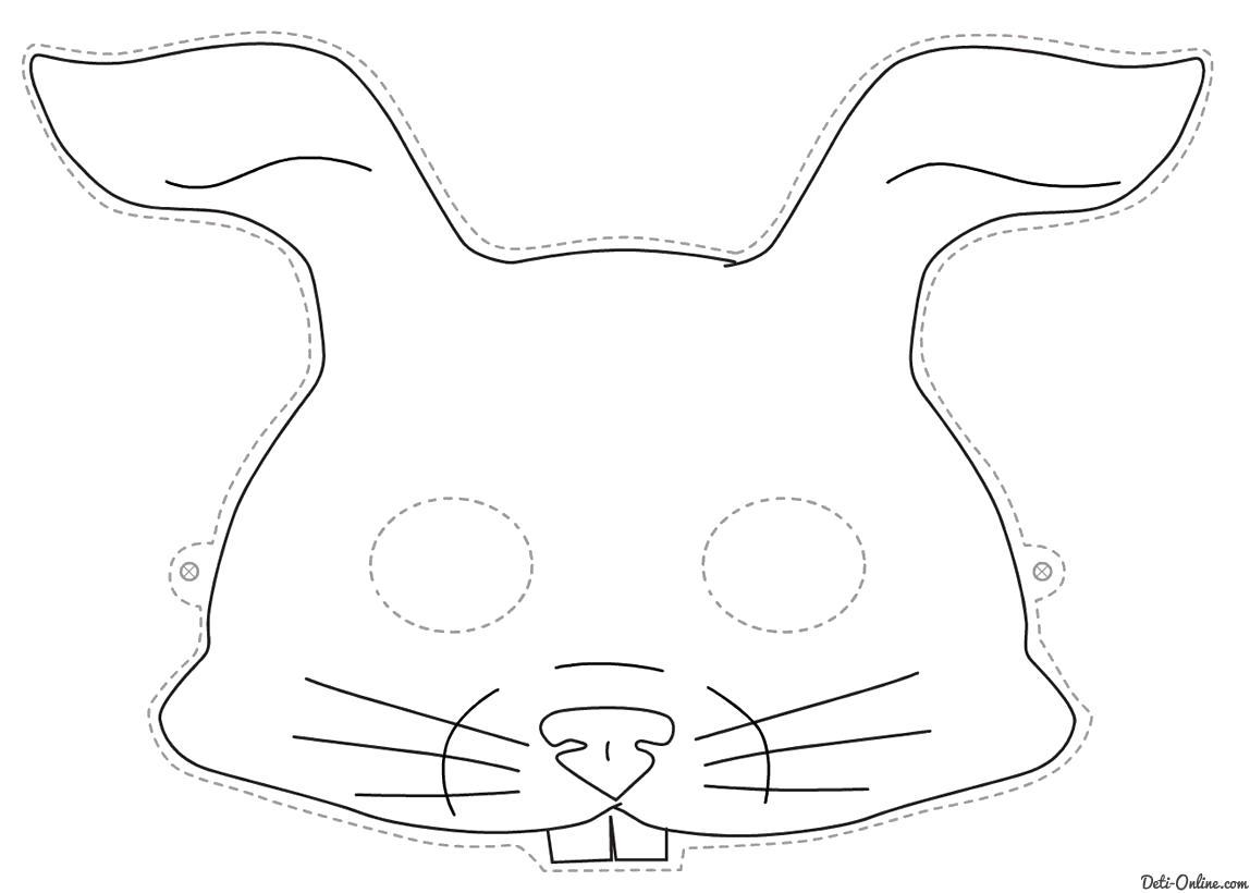 Раскраска Раскраска Маска заяц | Раскраски Маски Раскраски Заяц. Заяц