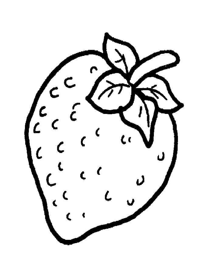 Раскраска Раскраска клубника ребенку. ягоды