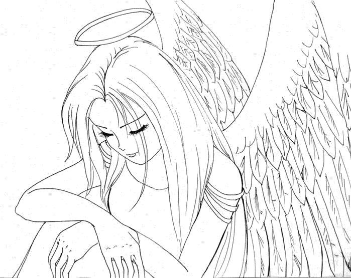 Раскраски ангелы, Раскраска аниме ангелы скачать и ...