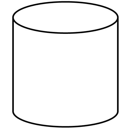 Раскраска Раскраски геометрические фигуры из бумаги цилиндр контур, для вырезания из бумаги шаблон . геометрические фигуры