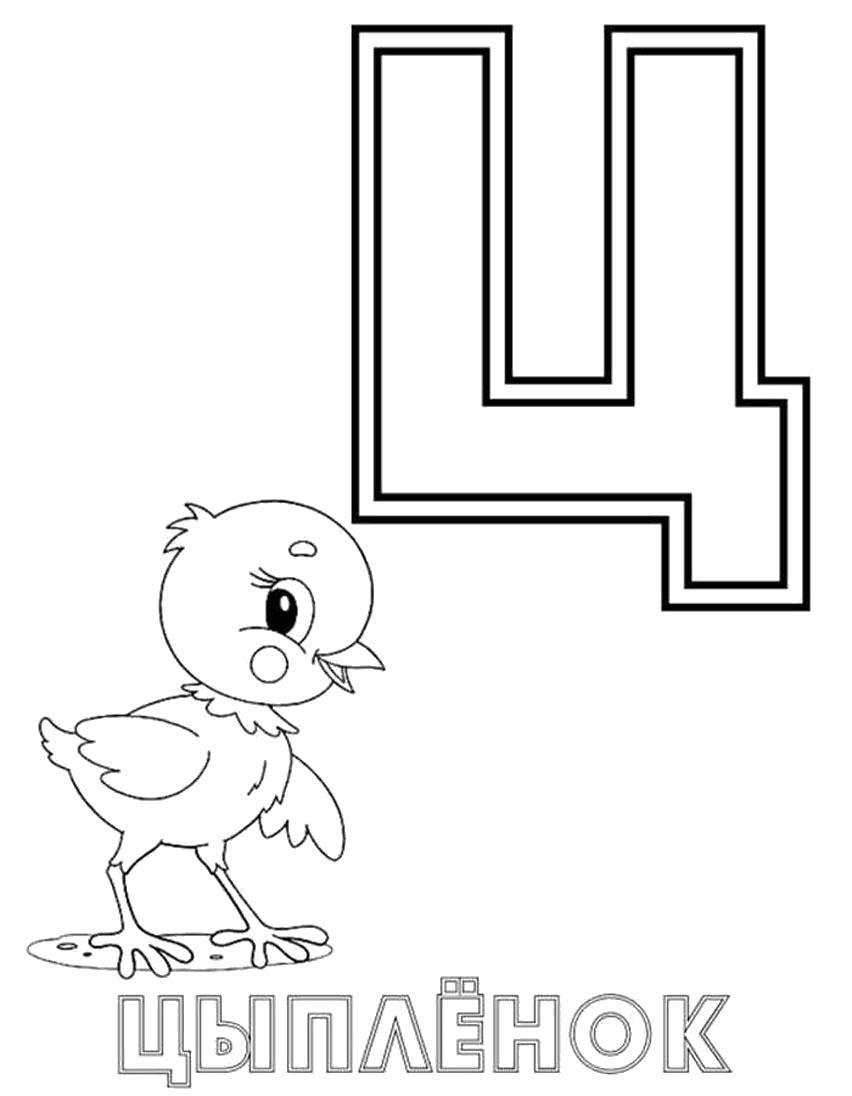 Раскраска  Буквы Русского Алфавита. буква