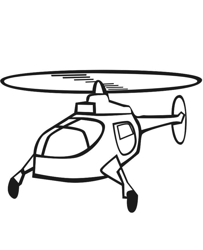 Раскраска Раскраска Вертолет онлайн. вертолет