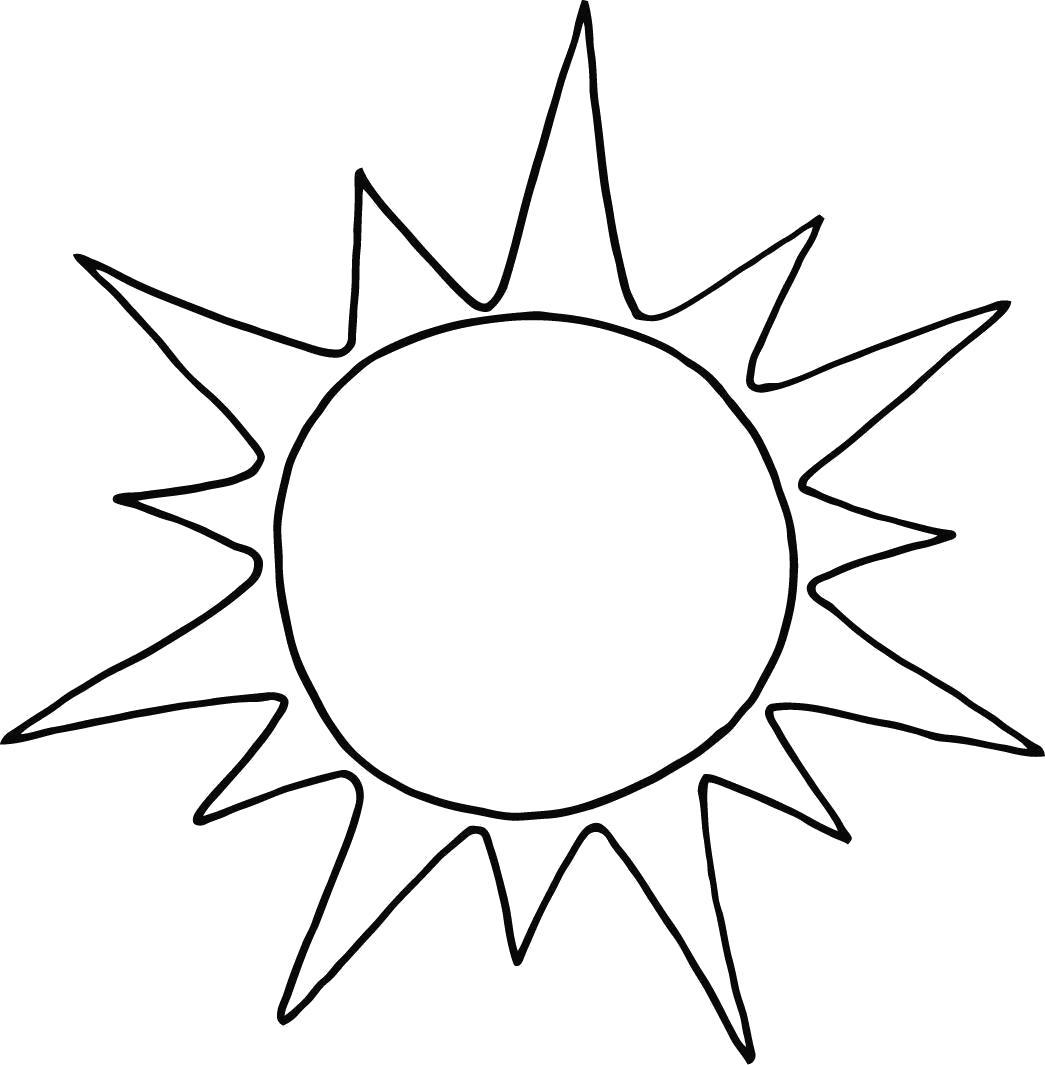 Раскраска Солнце. Скачать Солнышко.  Распечатать Солнышко
