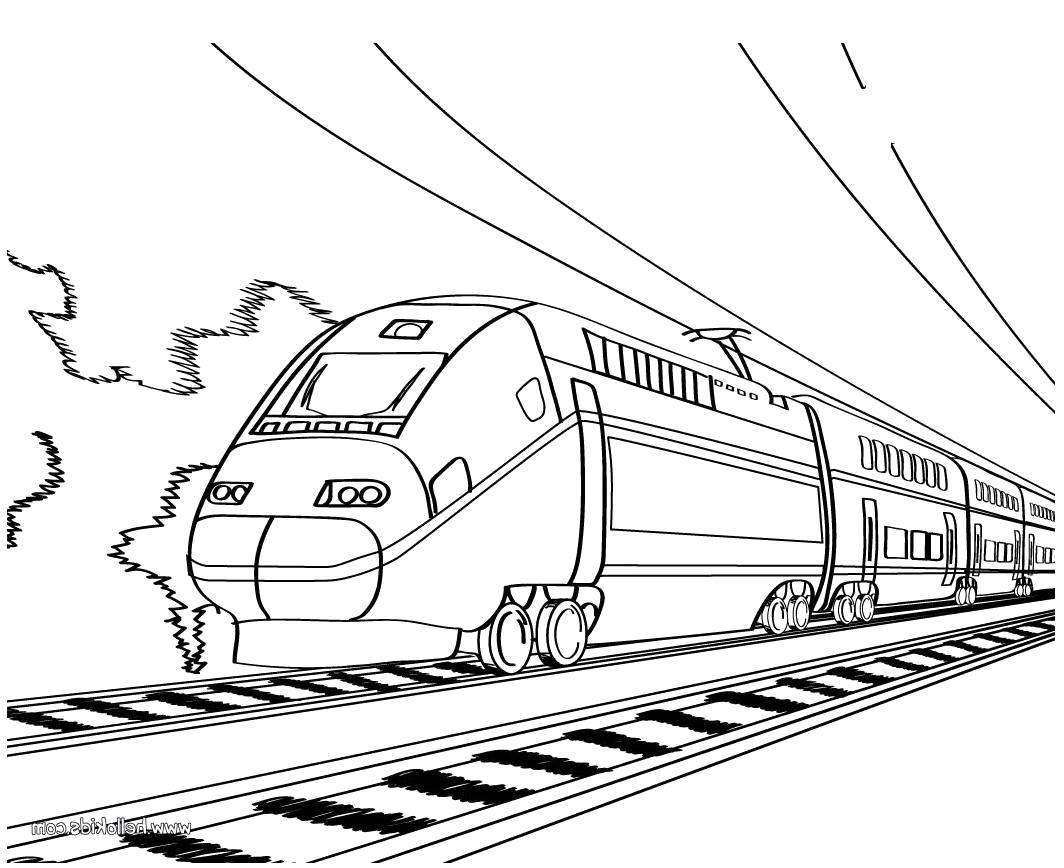 Раскраска скоростной поезд, сапсан. Скачать Поезд.  Распечатать Поезд