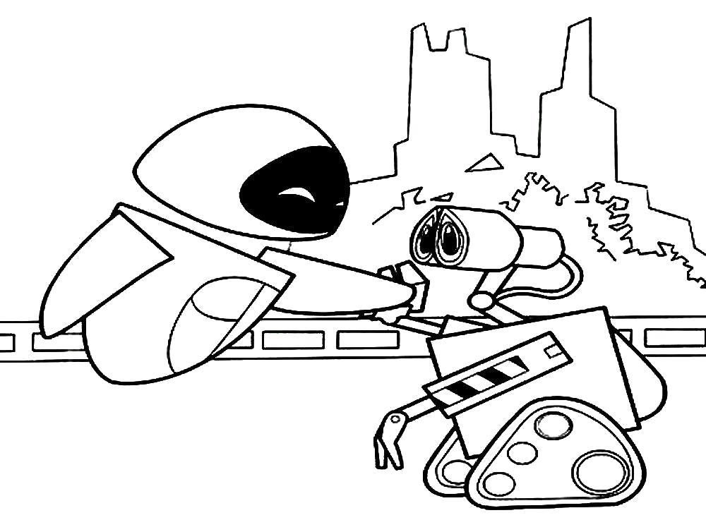 Раскраска Роботы  для детей. Картинки роботы. Скачать Робот.  Распечатать Робот