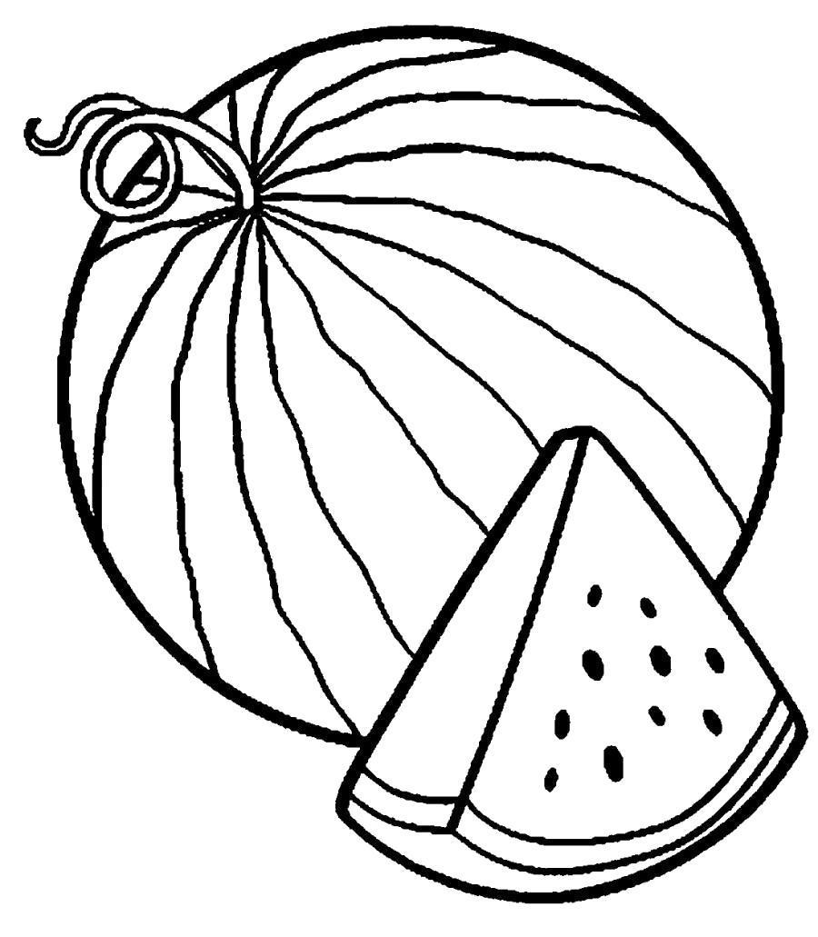 Раскраска Долька арбуза.