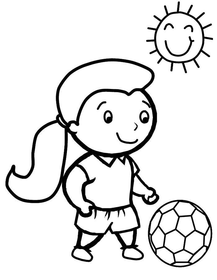 Раскраска Раскраска мяч.