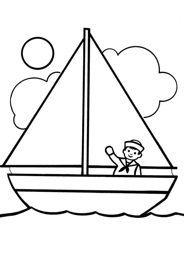 Раскраска красивые детские ,  для детей распечатать, скачать. Скачать Кораблик.  Распечатать Кораблик