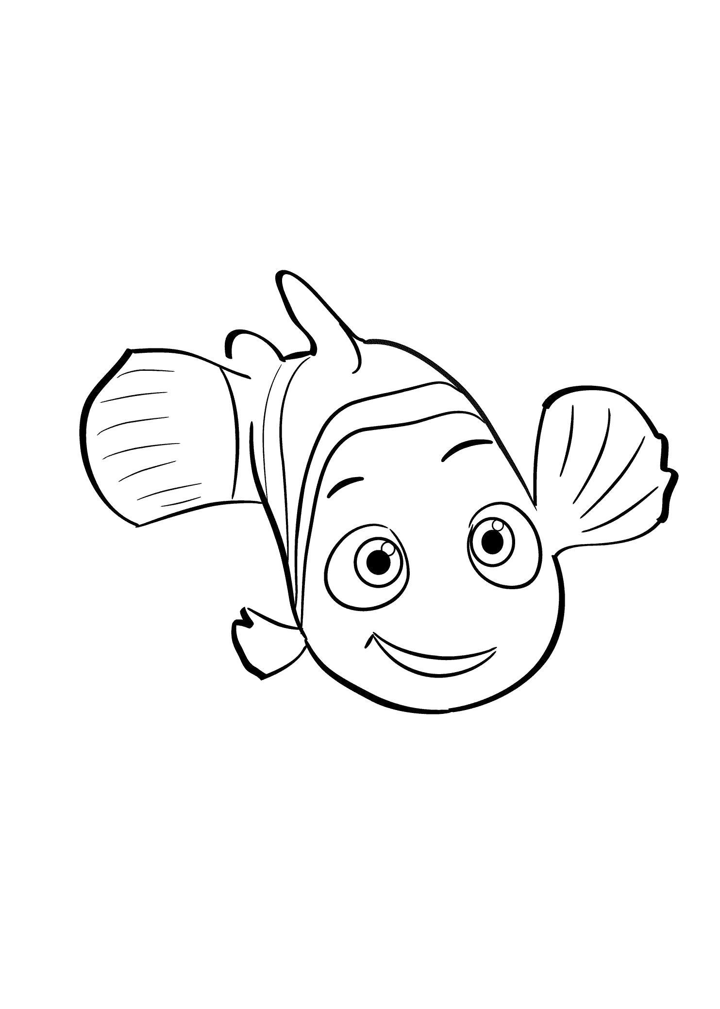Раскраска Раскраска рыбка Немо. Рыбы